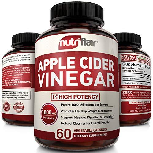 Apple Cider Vinegar Pills 1600MG - Powerful ACV Capsules